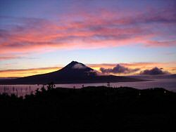 Sunset over Pico